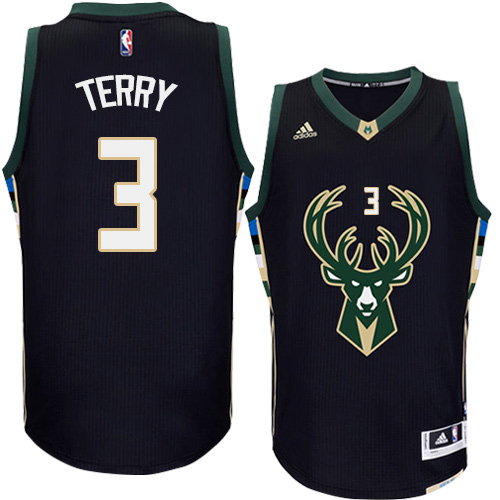 Mens Adidas Milwaukee Bucks 3 Jason Terry Authentic Black Alternate NBA  Jersey b1874c232