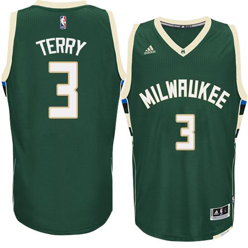 Mens Adidas Milwaukee Bucks 3 Jason Terry Authentic Green Road NBA Jersey 02f16a615
