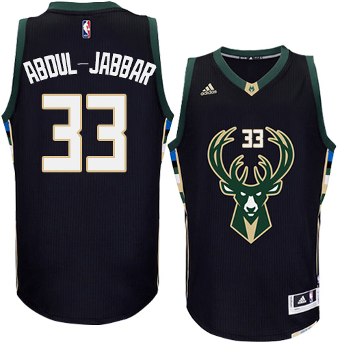... usa mens adidas milwaukee bucks 33 kareem abdul jabbar authentic black  alternate nba jersey 3e311 a6ec2 ... 2718cc889
