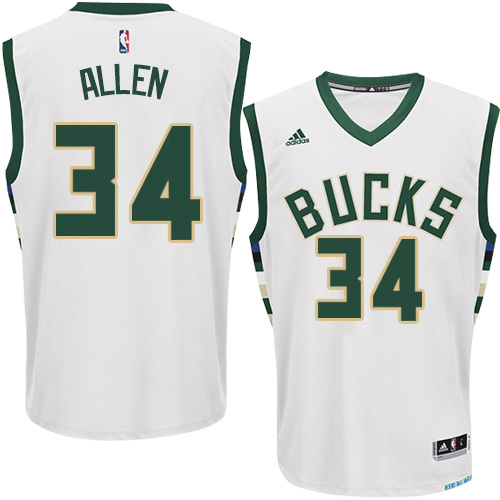 the best attitude d460b 430bd france milwaukee bucks 34 ray allen green swingman throwback ...